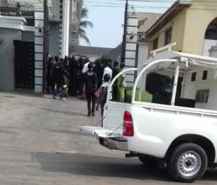 Police at Psquare's home