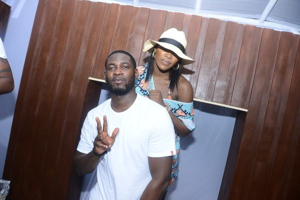 TeeBillz and Tiwa Loved up at Quilox Pool Party