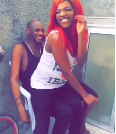 Annie Idibia twerks to Rihanna's Work for 2face