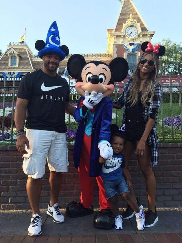 Ciara and Russell Wilson family Disneyland