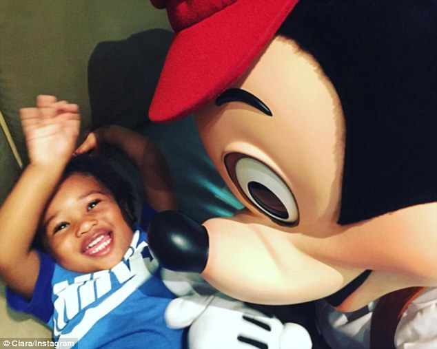 Ciara and Russell Wilson take son to Disneyland