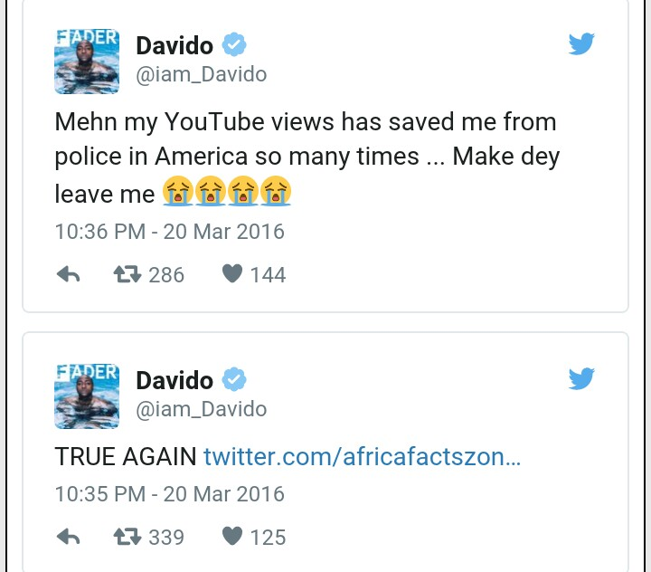 Davido was Almost Arrested in the US Recently