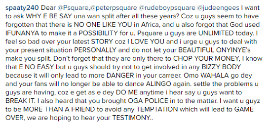 Hilarious Open Letter to Psquare