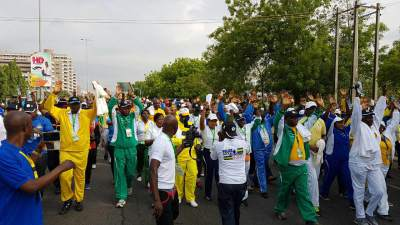 Nigeria Police Walk Against Crime