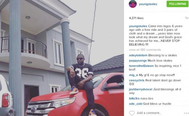 Skales Shares Photo of His New Home