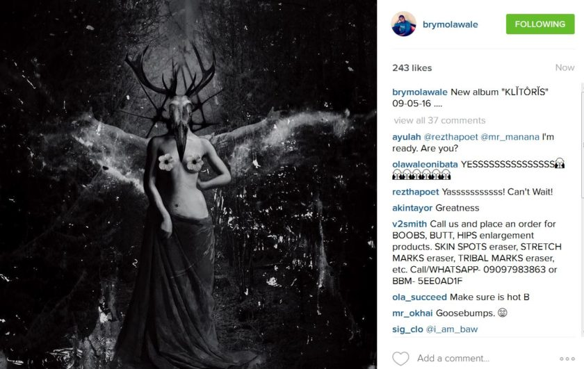 Brymo announce Klitoris