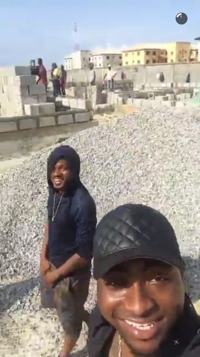 Davido is building his own house