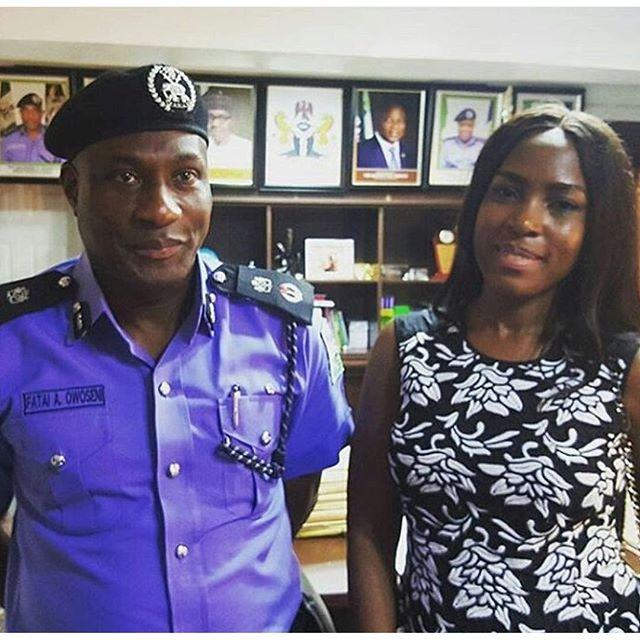 Linda Ikeji and Lagos Police Commissioner