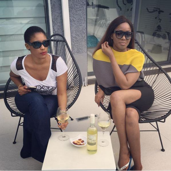 Sandra Okagbue Hangs Out With Ex-MBGN Sylvia Nduka