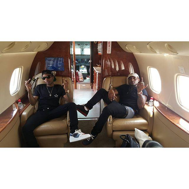 Wizkid & Davido Chill Together Inside A Private Jet