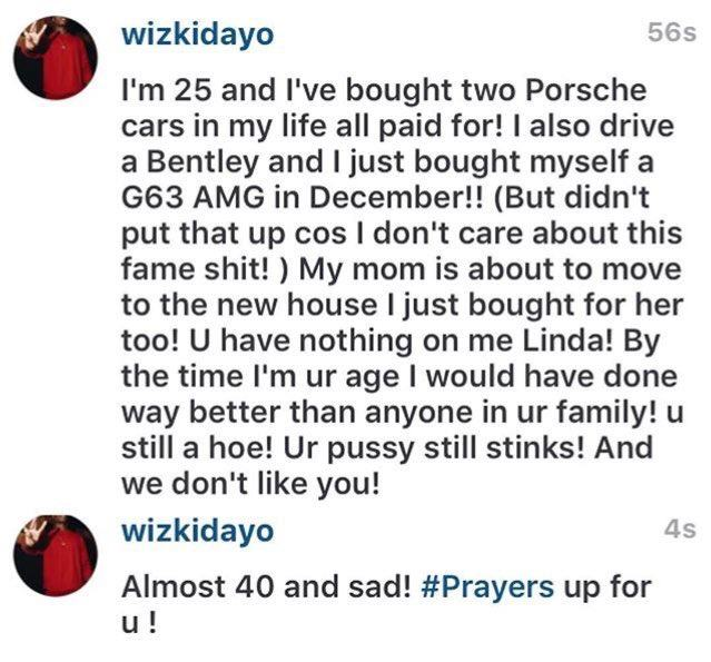 Wizkid Says Linda Ikeji Needs Prayers