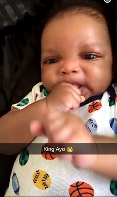 Wizkid's second son King Ayo