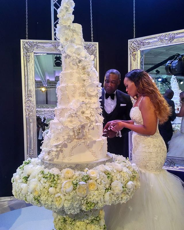 Caleb and Coco Adeleke Dubai White Wedding