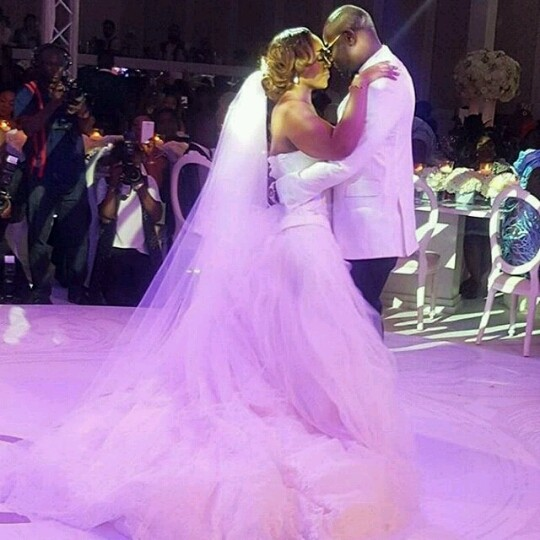 Coco Adeleke Dubai White Wedding