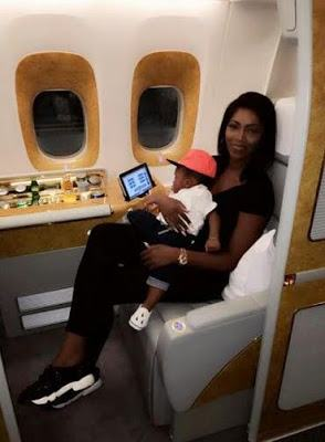 Tiwa Savage and Son Travel To Dubai