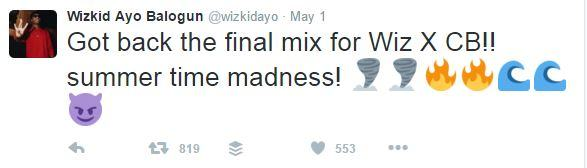 Wizkid Says His Collaboration with Chris Brown Is Ready