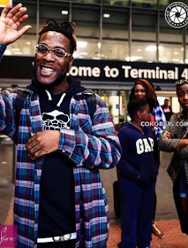 Burna Boy finally lands in UK for his Birthday Concert