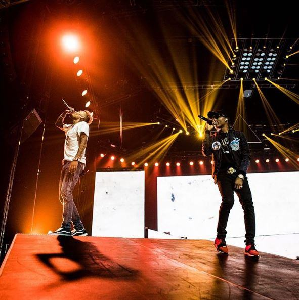 Chris Brown and Wizkid at Their Concert Last night