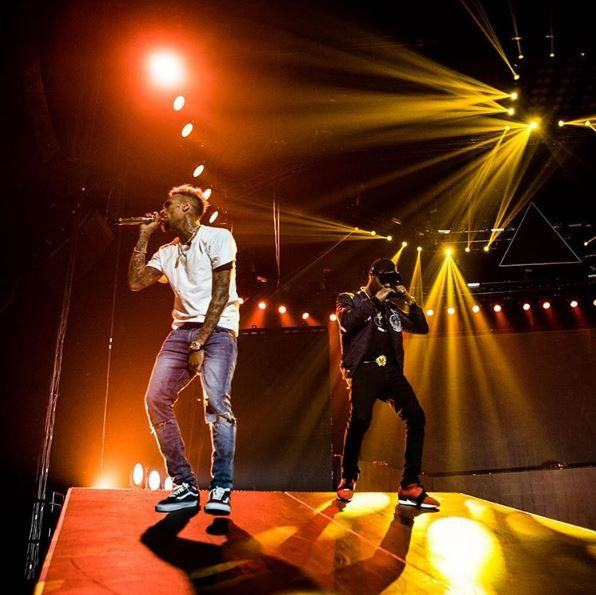 Chris Brown and Wizkid at Their Concert