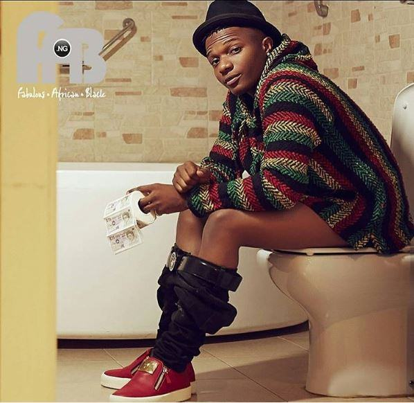 Wizkid In The Toilet