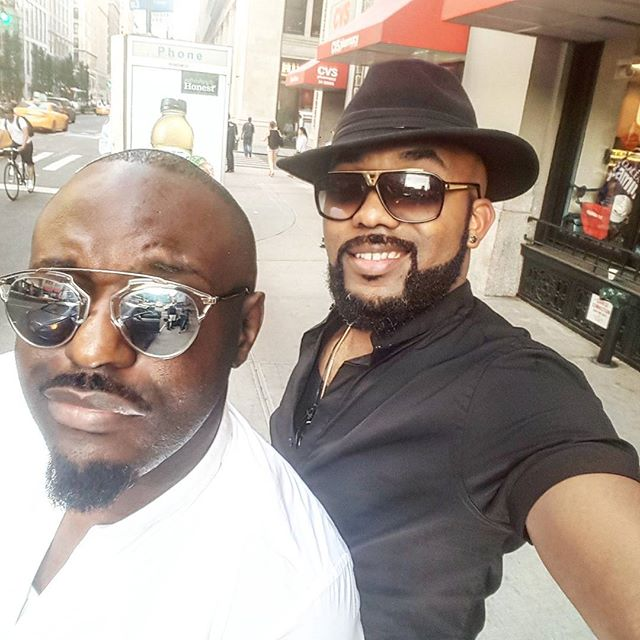 Banky W & Jim Iyke Bump Into Each Other On The Streets Of New York