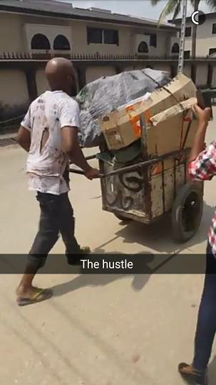 Banky W Transforms Into A Dirt-Truck Pusher For A New Movie NaijaVibe