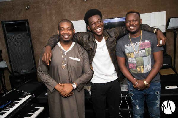 Don Jazzy, Dr SiD and fan