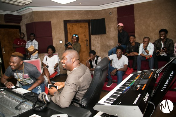 Don Jazzy Hosts 8 Lucky Fans At Mavins studios