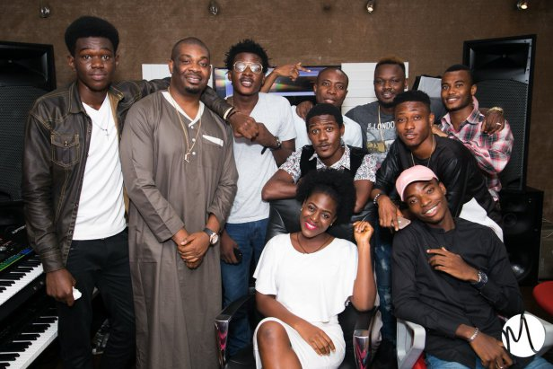 Don Jazzy Hosts 8 Lucky Fans At The Mavins Studios