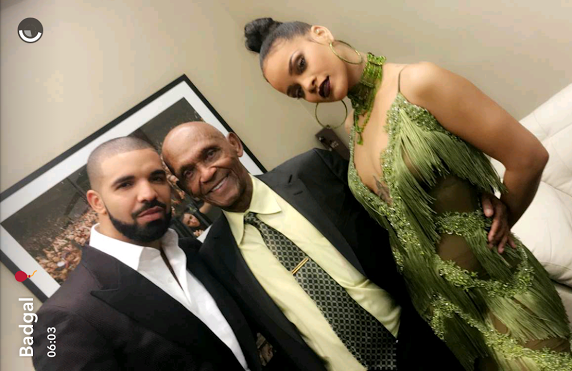 Drake, Rihanna and Dad