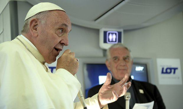 It Is Wrong To Identify Islam With Terrorism – Pope Francis