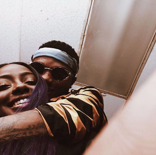 Wizkid and Justine Skye in adorable photo