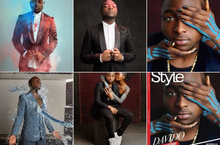 Davido's creative shoot for the cover of ThisDay