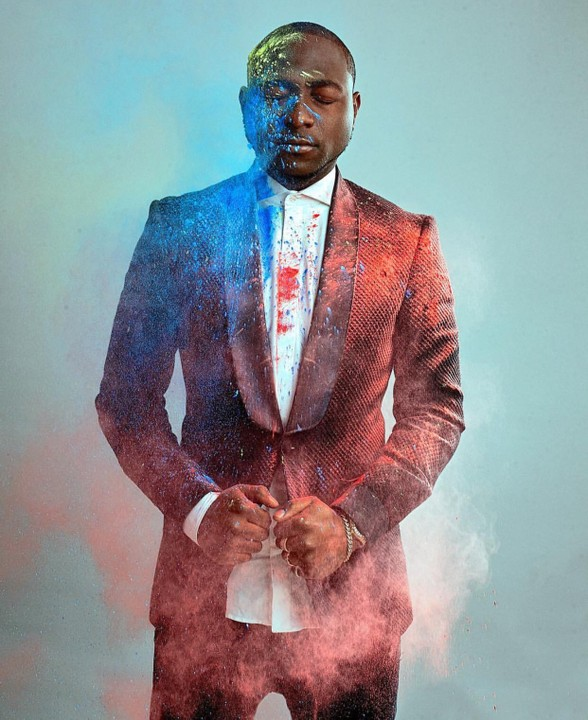 Davido's creative shoot for the cover of ThisDay Style