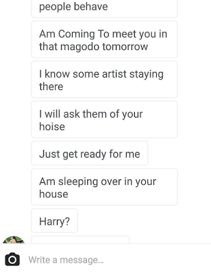 Harrysong Exposes Female Fan Who Has Been Disturbing Him To Make Love To Her