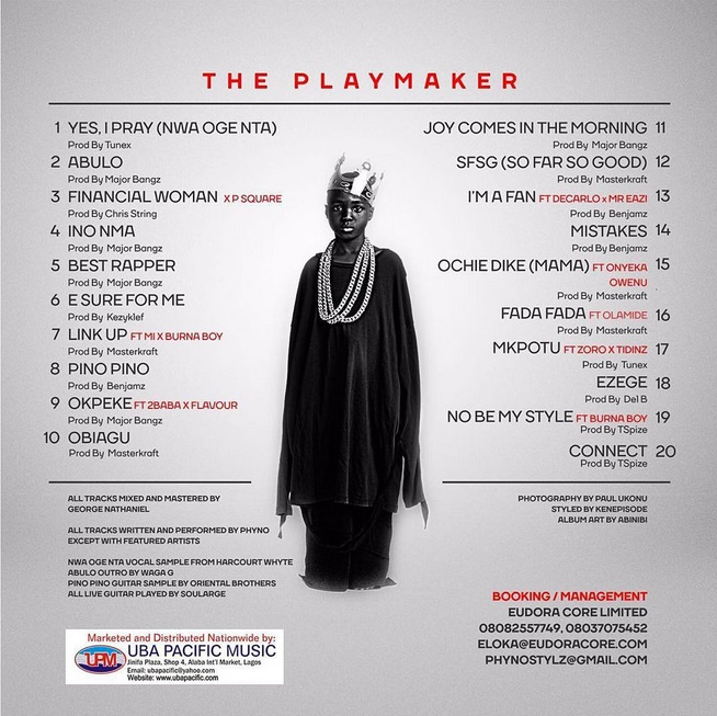 Phyno - The Playmaker tracklist