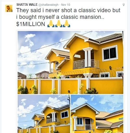 Shatta Wale Shows off His $1million House