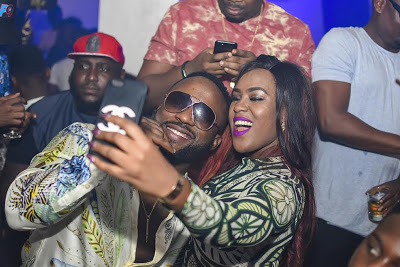 iyanya and Fan at DonJazzy's party