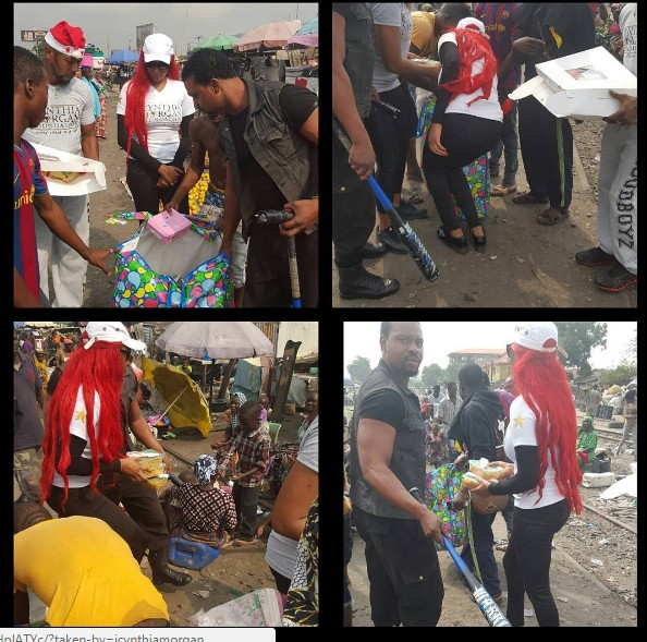 Cynthia Morgan Goes To The Streets To Celebrate Christmas With The Less Privileged