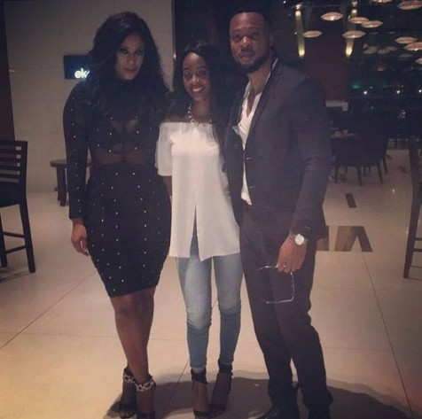 Flavour & Sandra Okagbue at her birthday dinner