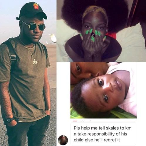 Lady claims Skales is the father of her baby boy (Photos)