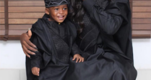 Tiwa Savage & Her Son Jamil Step Out In Matching 'Agbada'