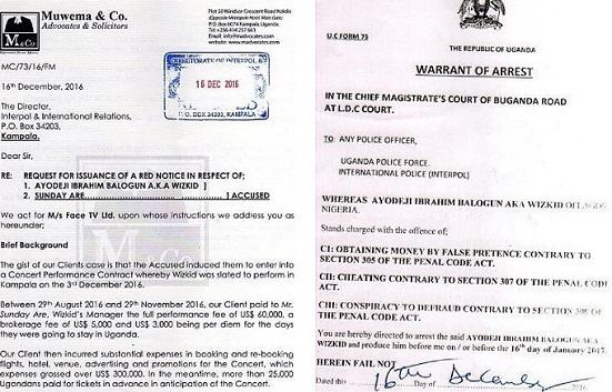 Wizkid & His Manager's Arrest Warrant Issued By Ugandan Court