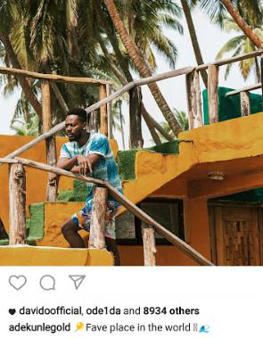 "Simi and Adekunle Gold together at his ""favorite place in the world"""