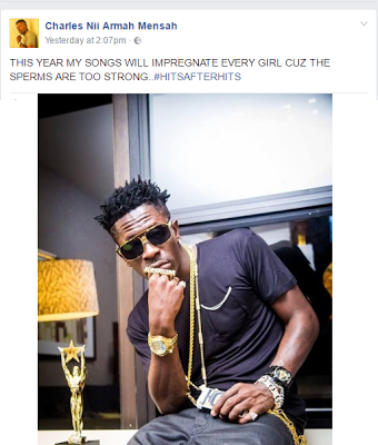 Shatta Wale Says His Music Would Impregnate Every Girl This Year