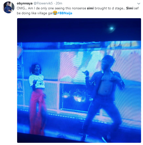 Simi dragged on Twitter because of her outfit at BBNaija eviction show