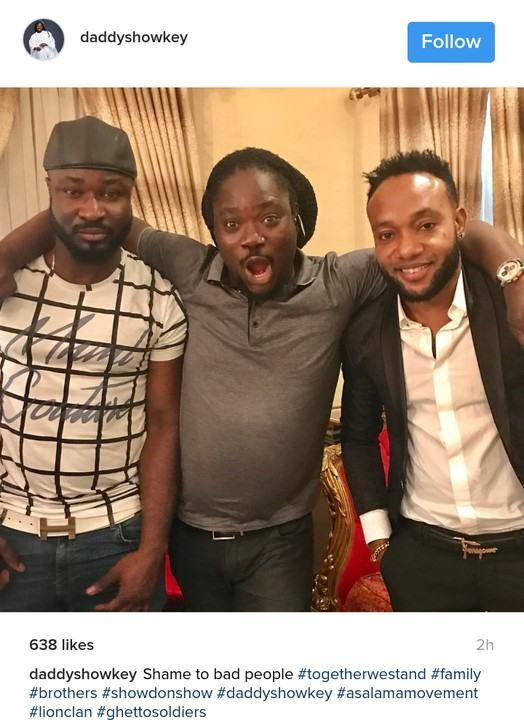 Daddy Showkey reconciles Harrysong & Kcee