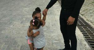 Flavour shares new photo of his daughters hugging