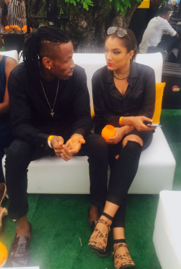 Gifty and Mr 2kay spotted at Lagos Polo club
