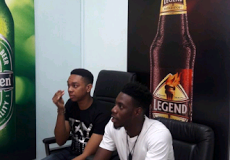 Soma and Miyonse's media tour